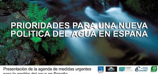 Prioridades para una nueva politica del agua
